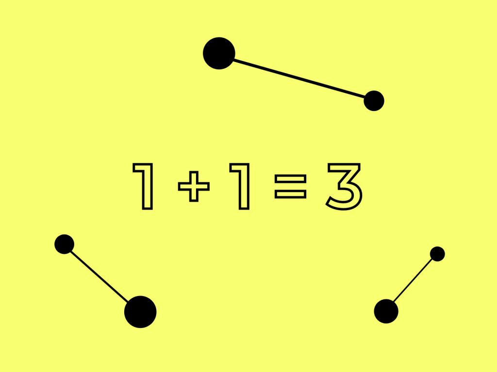 Concetto di sinergia 1+1= 3