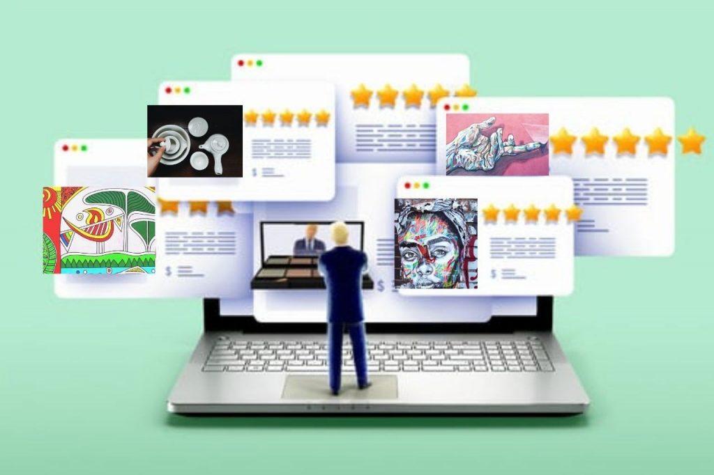 recensioni online a cinque stelle di prodotti artistici